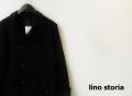 lino storia (リノストーリア) スウェットピーコート/ダブルジャケット (ブラック) M/L 限定品