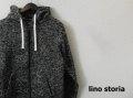 lino storia (リノストーリア) MIXカラーフリーススウェットフルジップパーカ (ブラック) M/L