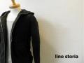 lino storia(リノストーリア) ボタニカルジャガードパイルダブルジップパーカ (ブラック) M/L
