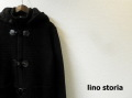 lino storia(リノストーリア) ニットダッフルコート/ニットアウター(ブラック) M/L