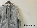 【大幅プライスダウン!プレミアムタイムセール!】 lino storia(リノ ストーリア) スリムフィットフリースダブルジップパーカ/スライバーニットパーカ (グレー) S/M/L/XL