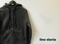 【大幅プライスダウン!プレミアムタイムセール!】 lino storia(リノ ストーリア) スリムフィットフリースダブルジップパーカ/スライバーニットパーカ (ブラック) S/M/L/XL