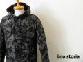 lino storia(リノ ストーリア) モノトーンボタニカルデザインスウェットプルオーバーパーカ(ブラック) M/L