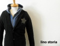 【プレミアムタイムセール!】 lino storia(リノストーリア)ブロンズレザースターデザイン 2Bパイルテーラードジャケット (ブラック)  M/L 【限定モデル】
