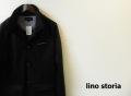 【リノストーリア プレミアムタイムセール!】 lino storia(リノストーリア) イタリアンカラーポンチスウェットジャケット (ブラック) M/L/XL