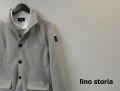 【リノストーリア プレミアムタイムセール!】 lino storia(リノストーリア) イタリアンカラースウェットジャケット (グレー) M/L/XL