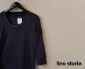 lino storia(リノ ストーリア) レザーエンブレムサーマルUネック7分袖Tシャツ (パープル) M/L