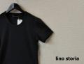 lino storia(リノ ストーリア) スリムフィット針抜き半袖Tシャツ (チャコールブラック) M/L/XL
