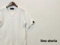lino storia(リノストーリア) フィッシャーマンサマーニット/半袖Tシャツ (ホワイト) S/M/L/XL