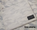 【プレミアムタイムセール!】 【超おすすめ!】【限定品】 lino storia(リノ ストーリア) レザーエンブレムモノトーンホワイトカモフラクラッチバッグ(ホワイト) 男女兼用/ペアにも♪