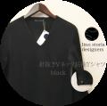 lino storia(リノ ストーリア) 針抜きVネック長袖Tシャツ /ロンT (ブラック) M/L 『限定品』
