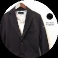 【プレミアムタイムセール!】 【今期おすすめ NO.1ジャケット!】 lino storia (リノストーリア) セットアップ ポンチスウェットテーラードジャケット (ブラック) M/L