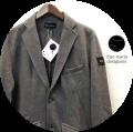 【今期おすすめ NO.1ジャケット!】 lino storia (リノストーリア) ポンチスウェットテーラードジャケット (チャコールグレー) M/L