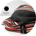 【大幅プライスダウン!プレミアムタイムセール!】 lino storia(リノストーリア) ストライプデザインマフラー(レッド) ユニセックス/イタリア製