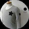 lino storia(リノ ストーリア) ネイビーカモフラスター サーマルUネック長袖Tシャツ (グレー) M/L/XL 『限定品』