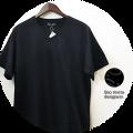 【SUMMER SALE 2021】【超人気シリーズ新作】 lino storia(リノストーリア) バイアスデザインVネック半袖Tシャツ 2 colar(ブラック/レッド) M/L 【限定品】