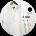 【特別価格】lino storia (リノ ストーリア) ラウンドデザインスウェットプルパーカ 2 colar(ホワイト/トップグレー) M/L
