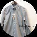 Nudie Jeans(ヌーディージーンズ) オーガニックコットンボタンダウンシャンブレーシャツ/無地長袖シャツ (ライトグレー) XS/S