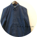 Nudie Jeans(ヌーディージーンズ) オーガニックコットンボタンダウン長袖シャツ/デニムシャツ (ブルー) XS/S