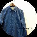 Nudie Jeans(ヌーディージーンズ) ヘリンボーンオーガニックコットンボタンダウン長袖シャツ (ブルー) XS/S