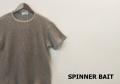 【プレミアムサマーセール!】 SPINNER BAIT (スピナーベイト) サマーニットコットンリネン半袖Tシャツ (グレー) 38(S)/40(M)