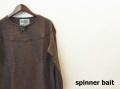 SPINNER BAIT (スピナーベイト) 1ボタンヘンリーニット/ウール混カットソー (ブラウン/400) 38(S)/40(M)