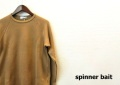 SPINNER BAIT (スピナーベイト) ライトトレーナー/コットン長袖カットソー (モカ/400) 38(S)/40(M)