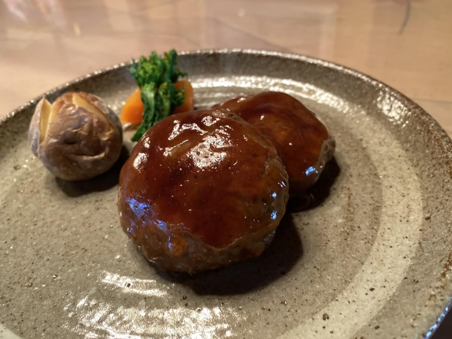 黒酢風味ハンバーグ②