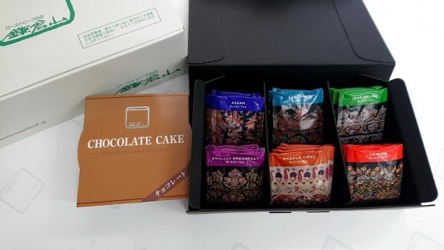 【送料無料】鎌倉山 NEWBY Tea's Selectionon&チョコレートケーキセット