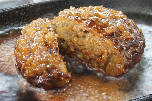 【送料込】黒毛和牛ハンバーグステーキ(和風たまねぎソース)5個入◆WH-50