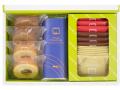 12箱入 ブランデーケーキ×1,バームクーヘンプレーン×2,バームクーヘンチョコ×2,ストロベリーゴーフル×3,チョコゴーフル×3
