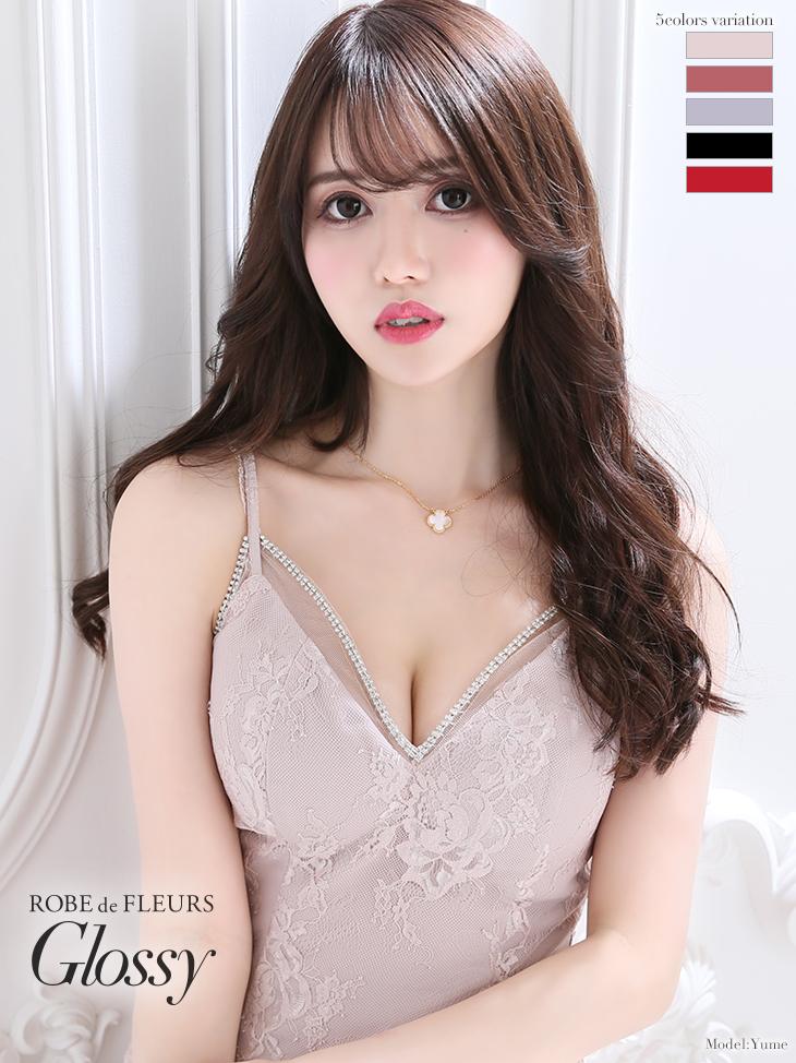 【XSサイズあり】片サイドレース切替×キャミソールタイトミニドレス(GL2009)