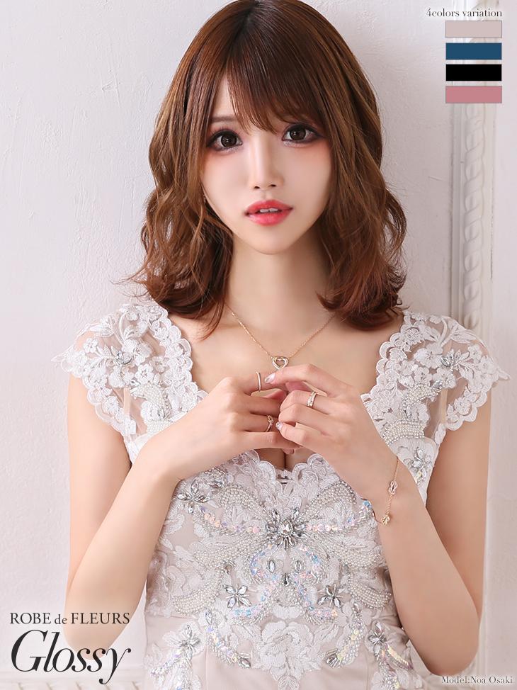 【XSサイズあり】ラメ刺繍×ラグジュアリータイトミニドレス(GL2042)