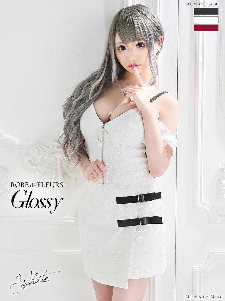 フロントジッパー×オフショルセットアップドレス(GL2102)