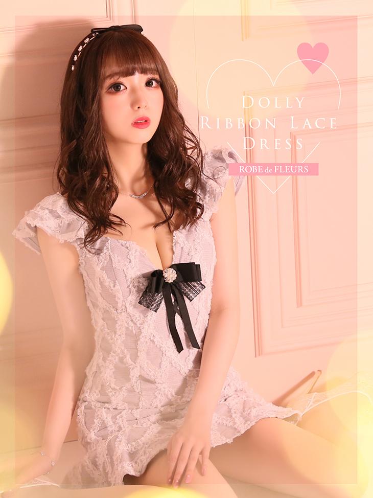 【XSサイズあり】ドーリーリボンレースドレス(fm2109)