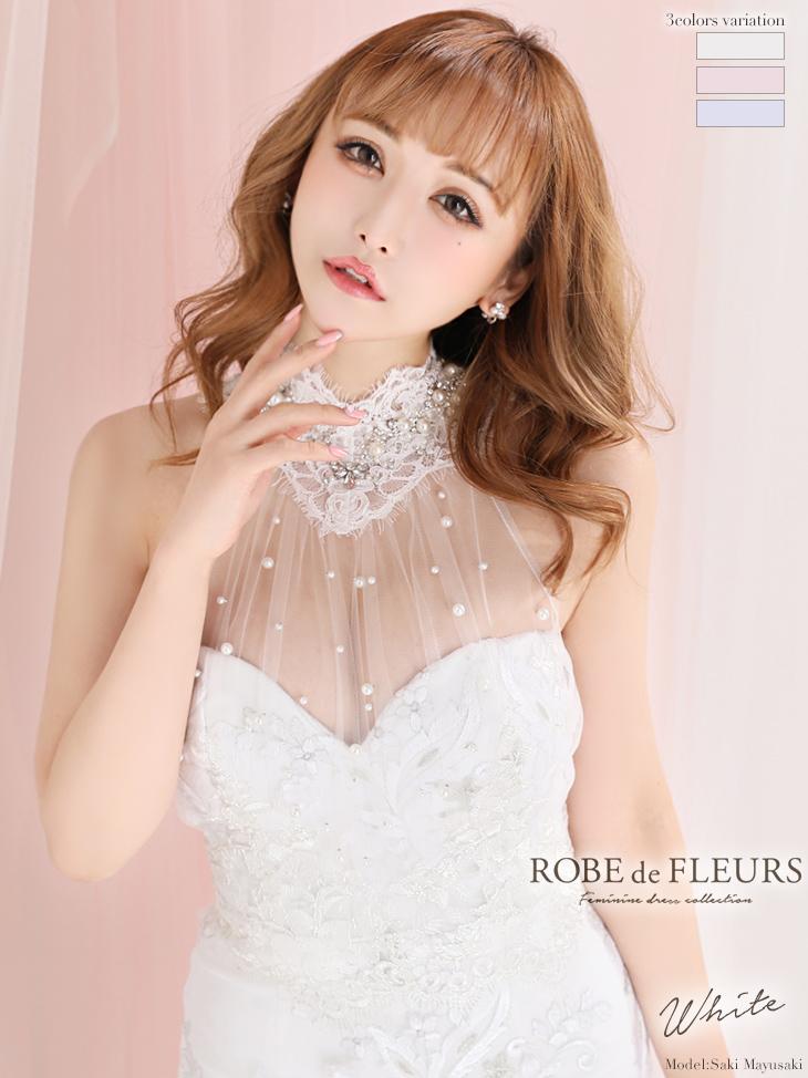 刺繍レース×サテンタイトミニドレス♡(fm2370)