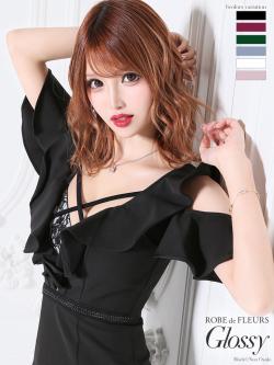 【XS~Lサイズあり】ブラックレース切替×ストレッチタイトミニドレス(GL1843)