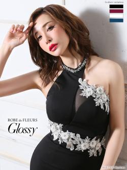 【XSサイズあり】ホルターネック×ラグジュアリータイトミニドレス(GL1914)