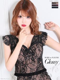 【XSサイズあり】バストレースアップ×レースツーピースタイトドレス(GL1975)