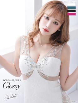 【XSサイズあり】片サイドレース切替×ビジュータイトミニドレス(GL2287)