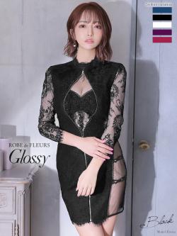 【XSサイズあり】ロングスリーブ×ジップタイトミニドレス♡(GL2315)