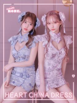 ★予約商品★【10月中旬入荷予定】【XS~Mサイズあり】Heart China Dress [ヘッドアクセ付き](anier4006)
