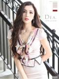 【XS〜Lサイズあり】スカーフ風リボン×セットアップタイトドレス[ベルト付き](DE1553)