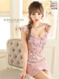 【XS~Lサイズあり】フラワー刺繍チュールレース×タイトミニドレス(fm1640)