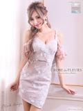 【XS~Lサイズあり】フラワー刺繍レース×オフショルタイトミニドレス(fm1757)