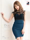 【Lサイズあり】レース切替×ストレッチタイトドレス[チョーカー付き](DE1813)