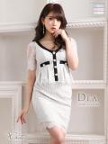 パイピングデザイン×総レースストレッチタイトドレス(DE1831)
