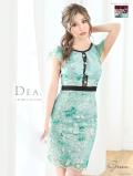 スパンコールレース×フリルタイトドレス(DE1849)