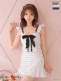 【XSサイズあり】チェックツイード×スカートパンツドレス(fm1856)