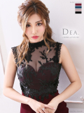 【Lサイズあり】刺繍レース×ストレッチタイトドレス(DE1923)